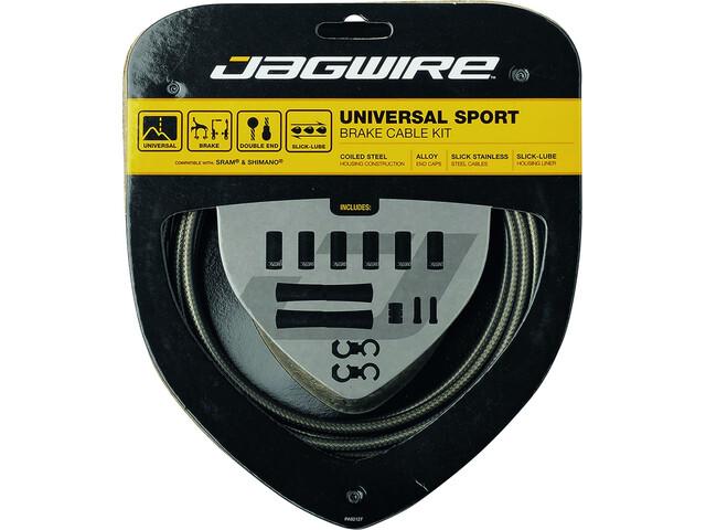 Jagwire Sport Set cavo del freno universale per Shimano/SRAM, carbon silver